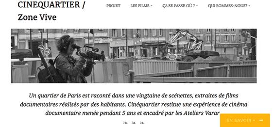 Lien vers le site Cinequartier.fr