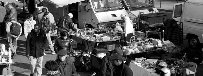 Le marché aux puces de Montreuil, Paris 20ème