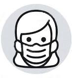 Icone personnage avec un masque