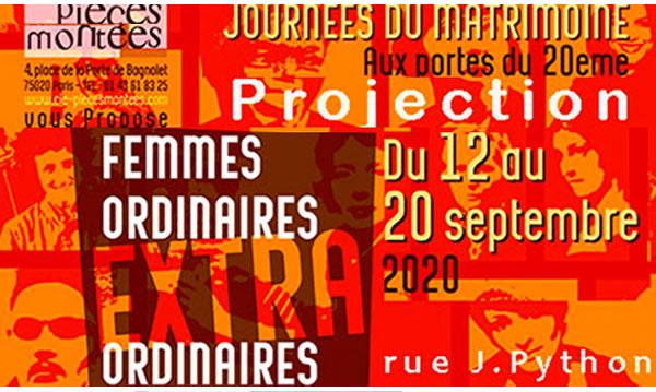 Affiche journée du Matrimoine 2020 Compagnie Pièces Montées