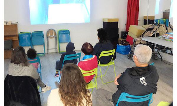 Projection de film à la Maison des Fougères