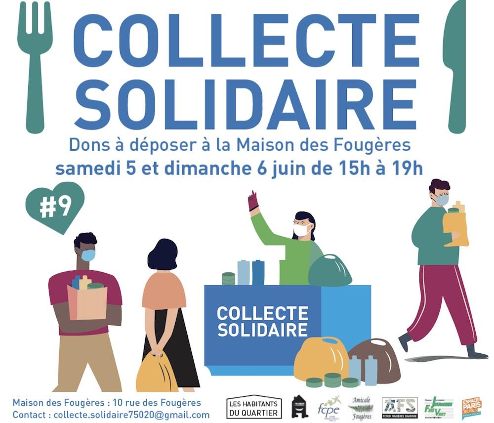 Collecte solidaire quartier Fougères-Le-Vau 5 juin 2021