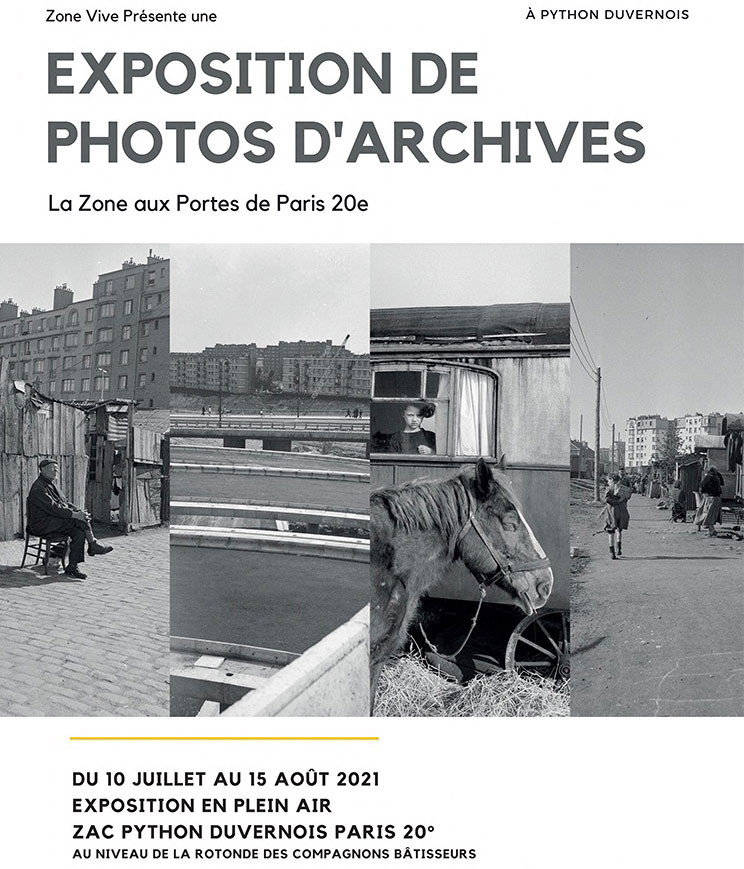 """Exposition de photos d'archives """"La Zone aux Portes de Paris 20e"""""""